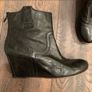 Frye wedge Carson booties size 9.